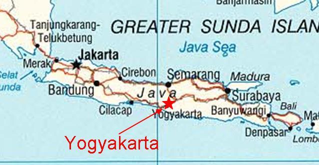 Map Of Indonesia Showing Yogyakarta