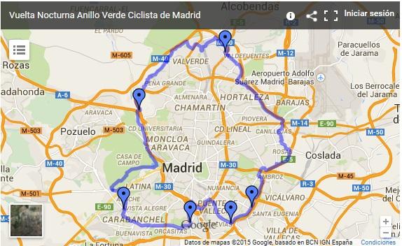 Una vuelta a madrid en bici albherto 39 s blog - Anillo verde ciclista madrid mapa ...