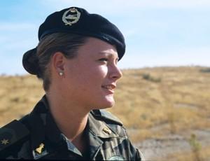 Zaida Cantera, capitán del Ejército español.