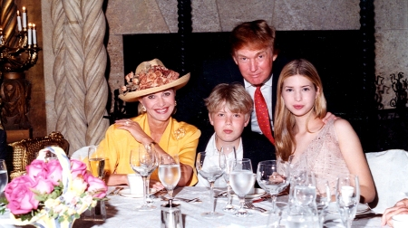 The Trumps At Mar-A-Lago